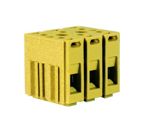 Terminal blocks for circuits increased safety ATEX - feed-through for anchoring to the panel